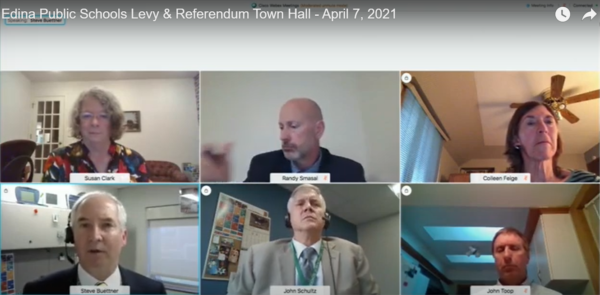 Screen capture photo of six people in an online meeting