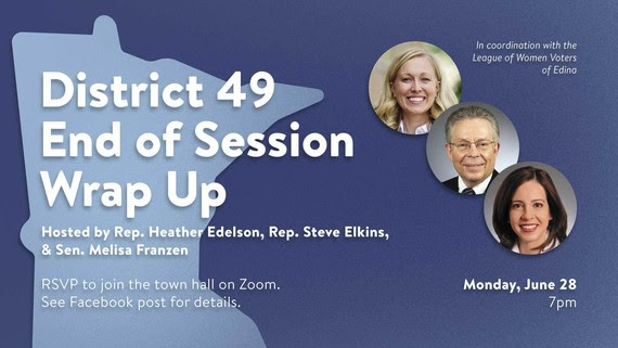 District 49 End of Session Wrap up graphic